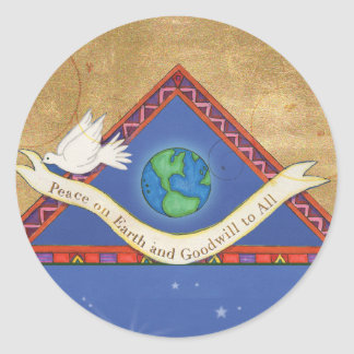 S008 Peace on Earth Sticker