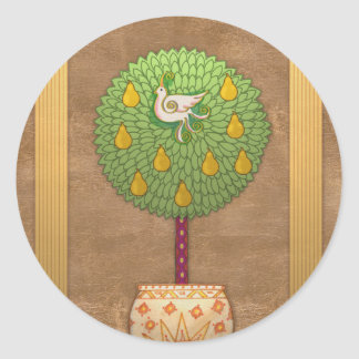 S009 Partridge in a Pear Tree Sticker