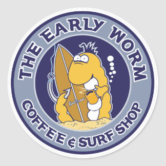 S102 - The Early Worm Sticker