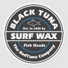 S103 - Black Tuna Surf Wax Sticker