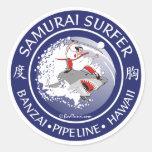 S105 - Autocollant samouraï de surfer