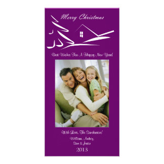 S3 Simple Beauty-Plumb Xmas Photo Card