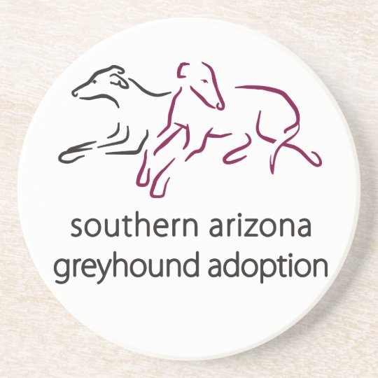 S A Greyhound Adoption sandstone coaster