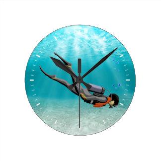 S.C.U.B.A. Diver Wallclocks