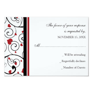 ` S de Valentine épousant la carte de RSVP Carton D'invitation 8,89 Cm X 12,70 Cm