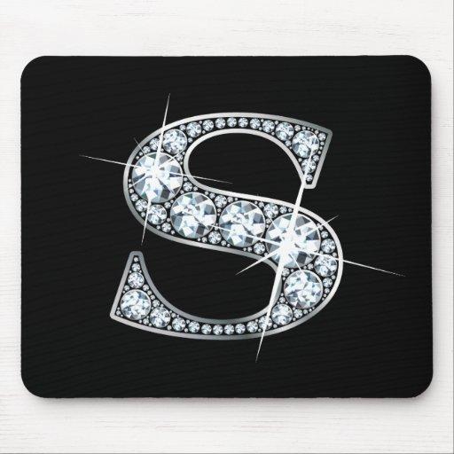 """S"" Diamond Bling Mousepad"