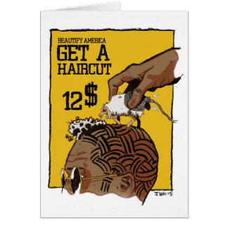 S (hip) Haircut Card