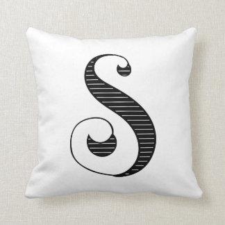 S Initial Pillow