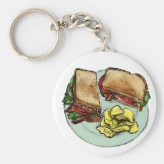 S is for Sandwich Keychain