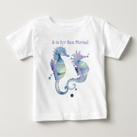 S is for Sea Horse Cute Baby Baby T-Shirt
