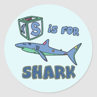 S is for Shark Stickers