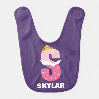 S is for Sleeping Beauty | Add Your Name Bib