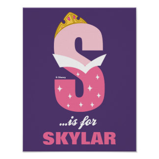 S is for Sleeping Beauty | Add Your Name Poster
