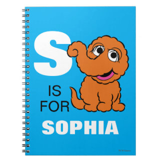 S is for Snuffleupagus | Add Your Name Note Book