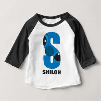S is for Stitch | Add Your Name Baby T-Shirt
