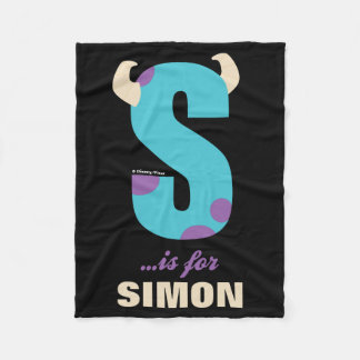 S is for Sulley | Add Your Name Fleece Blanket