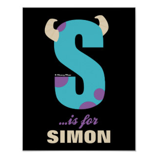S is for Sulley | Add Your Name Poster