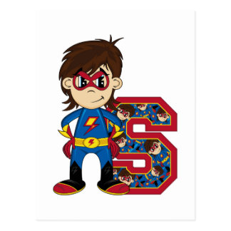 S is for Superhero Postcard