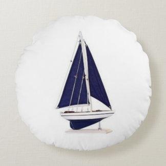 s-l300 Sail boat decor Round Pillow