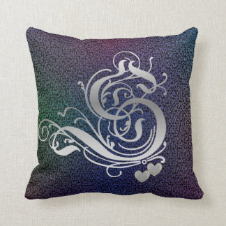 'S' Medieval Vines Monogram Throw Pillows