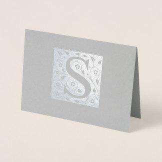 S Monogram Foil Card