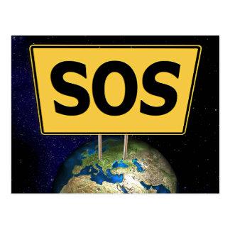 S.O.S EARTH POSTCARD