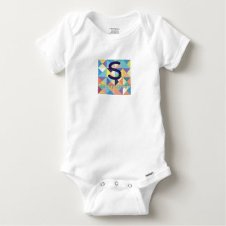 S on my Chest Cotton Onesy Baby Onesie