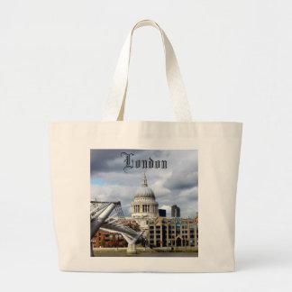 S Paul's Cathedral-Millennium Bridge-London Canvas Bags