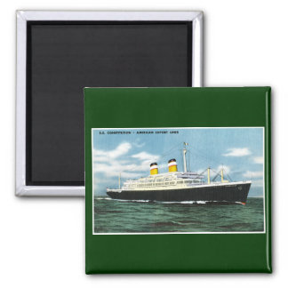 S.S. Constitution American Express Lines Vintage Square Magnet