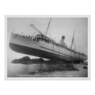 S S Princesse May Shipwrecked 1910 Posters