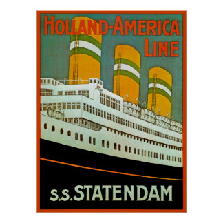 s.s. Statendam Poster