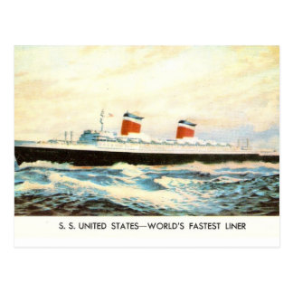 S.S. United States - American Liner project Postcard