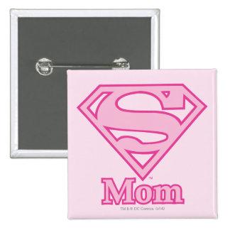 S-Shield Mom Pinback Button