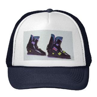 s ski boots trucker hat