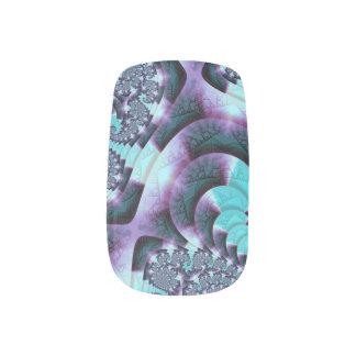 'S Swirls' C2TL custom fractal art Minx Nail Art