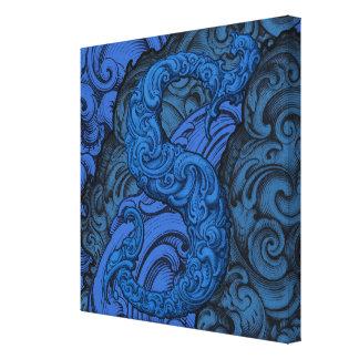 S - The Falck Alphabet Blue Canvas Print