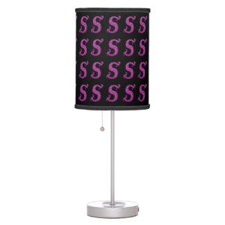 S - The Falck Alphabet Pink Lamp