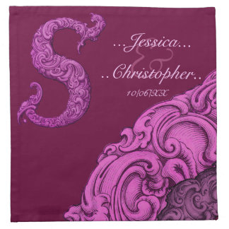 S - The Falck Alphabet Pink Wedding Napkins