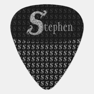 S - The Falck Alphabet (Silvery) Guitar Pick