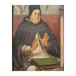 S. Thomas Aquinas, O.P. in Montefeltro studiolo Wood Wall Art