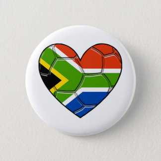 SA Heart,l love soccer ,south africa 2 Inch Round Button