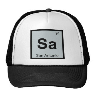 Sa - San Antonio Texas Chemistry Periodic Table Trucker Hat