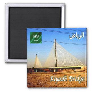 SA - Saudi Arabia - Riyadh Bridge Square Magnet