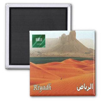 SA - Saudi Arabia - Saudi Desert Square Magnet