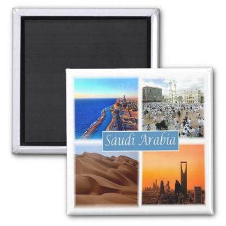SA * Saudi Arabia Square Magnet