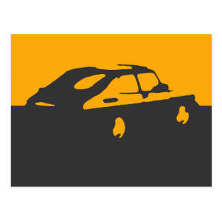 Saab 900 SPG/Aero - Yellow on dark postcard