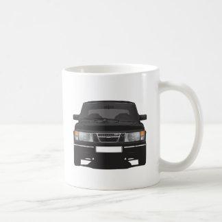 Saab 900 turbo (black) coffee mug