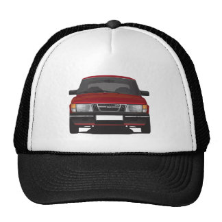 Saab 900 turbo (red) trucker hat