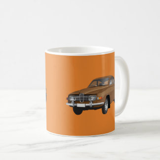 Saab 96, brown, coffee mug