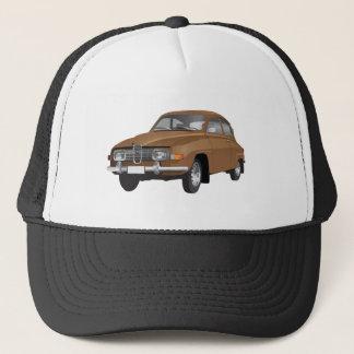 Saab 96 brown trucker hat